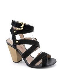 Madison Harding Franklin Black Strappy Suede Dress Sandals Shoes