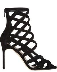 Manolo Blahnik Vagibu Caged Sandals