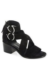 Rag & Bone Mari Suede Mid Heel Sandals
