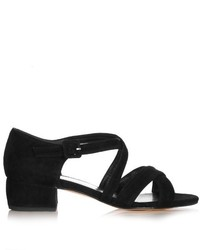 Maryam Nassir Zadeh Chiara Block Heel Suede Sandals