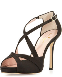 Kate Spade New York Fensano Strappy Suede Sandal Black