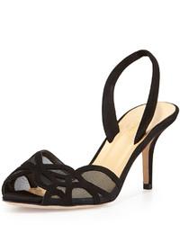 Kate Spade New York Sarita Meshsuede Halter Strap Sandal Black