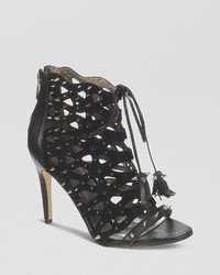 Sam Edelman Open Toe Caged Studded Ghillie Sandals Allison High Heel