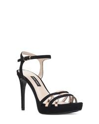 810c3916b32 Women s Black Suede Heeled Sandals by Nine West