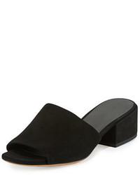 Vince Rachelle 2 Suede Block Heel Mule Sandal