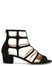 Jimmy Choo Ren 35mm Block Heel Suede Sandals