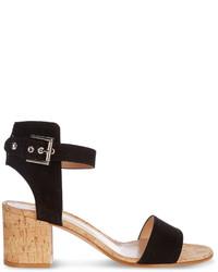 Gianvito Rossi Rikki Cork Block Heel Sandals