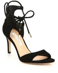 Diane von Furstenberg Rimini Suede Lace Up Sandals