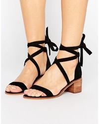 Steve Madden Rizzaa Suede Tie Block Heeled Sandals