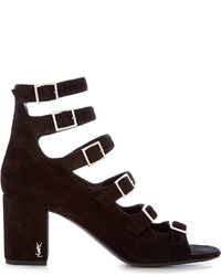 Saint Laurent Babies Block Heel Suede Sandals