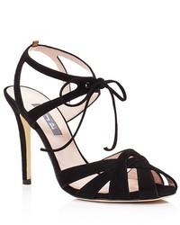 Sarah Jessica Parker Sjp By Keating Suede High Heel Sandals 100% Bloomingdales
