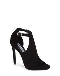 622586fcbae Women s Black Suede Heeled Sandals by Steve Madden