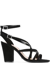Schutz Strappy Block Heel Sandals