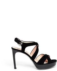 Nobrand Suede High Heel Sandals