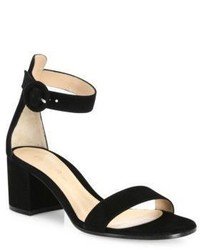 Gianvito Rossi Texas Suede Block Heel Sandals