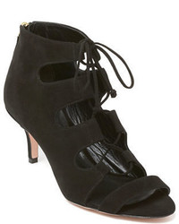 Delman Tryst Suede Lace Up Booties