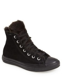 Black Suede High Top Sneakers