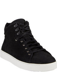 Black Suede High Top Sneakers