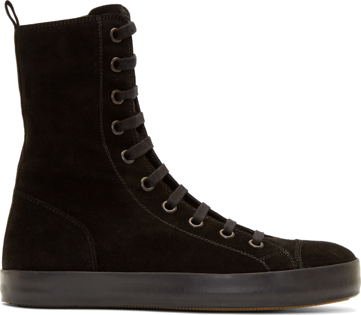 Ann Demeulemeester Ad Black Suede Tall