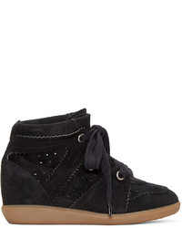 Black bobby wedge sneakers medium 695605