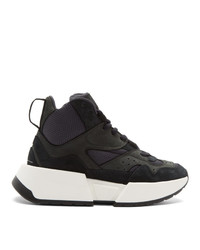 MM6 MAISON MARGIELA Black High Top Chunky Sneakers