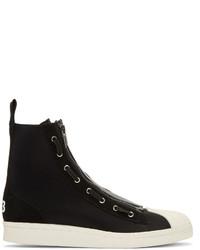 Black pro zip high top sneakers medium 793903