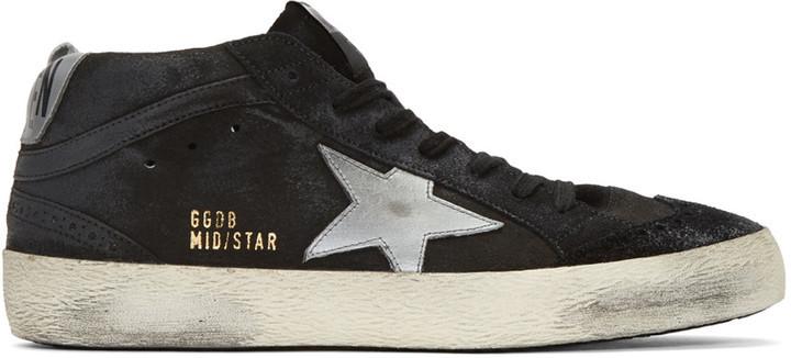 Or star en goose deluxe mi - star Or marque Or en goose en daim noir haut 7c2a22