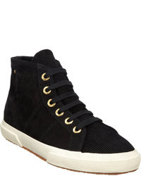 The Row Suede Corduroy High Top Sneakers