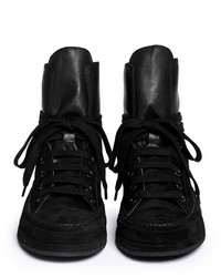 Cuir Demeulemeester Ann Top Sneakers - Noir CPVgLKe