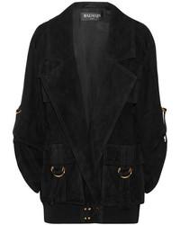 Oversized suede jacket black medium 3715725