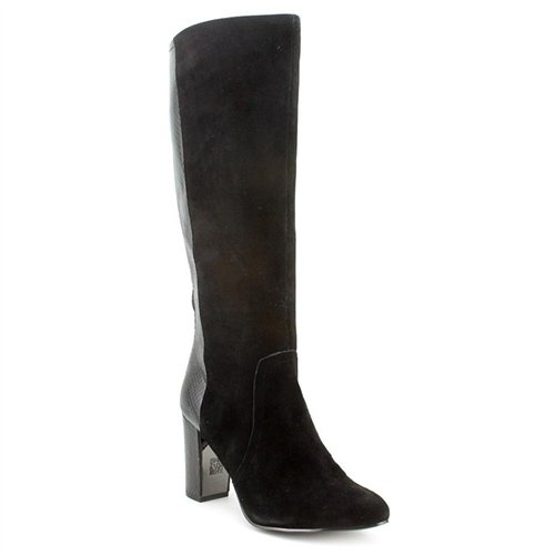 klein ak nilise black suede fashion knee high boots