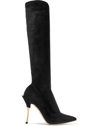 Dolce & Gabbana Cardinale Stretch Suede Knee Boots