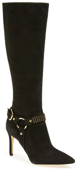 2c3d58fe659 ... Via Spiga Cinda Studded Knee High Boot Narrow Calf ...