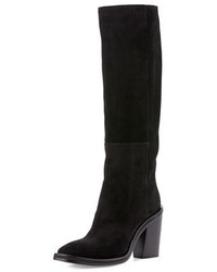 CNC Costume National Costume National Suede Knee Boot Black