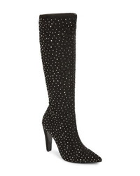 Nina Dacy Rhinestone Knee High Boot