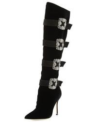 292fccefc85 ... Manolo Blahnik Fufius Hangisi 105mm Knee Boot Black