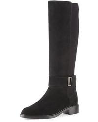 Aquatalia Giada Weatherproof Suede Knee Boot Black