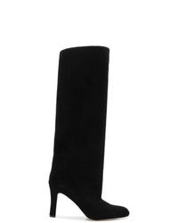 54db5866c0f7e Women's Black Suede Knee High Boots by Manolo Blahnik | Women's ...