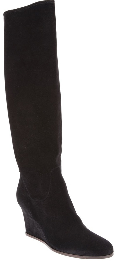 Lanvin Knee High Wedge Boot