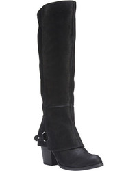 Fergalicious Lexy Knee High Boot Black Faux Suede Boots