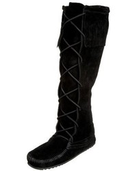 Minnetonka 1429 Front Lace Knee High Boot