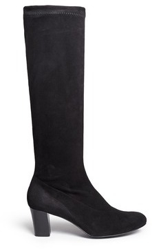 c37b207d26a ... Robert Clergerie Passac J Stretch Suede Knee High Boots ...