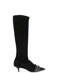 RED Valentino Red Slip On Ruffled Boots