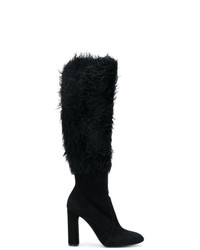 Casadei Removable Fluffy Leg Boots