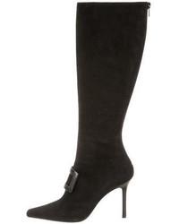 Oscar de la Renta Suede Knee High Boots