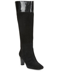 Bandolino Viet Wide Calf Suede And Leather Knee High Boots