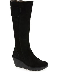 Fly London Yulo Knee High Wedge Platform Boot