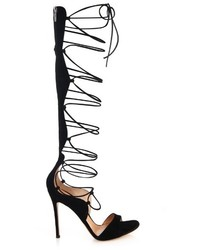 Gianvito Rossi Gladiator Lace Up Suede Sandals