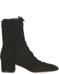 Gianvito Rossi 45mm Lace Up Suede Ankle Boots