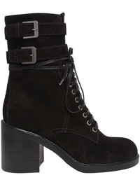 Laurence Dacade 80mm Pilar Lace Up Suede Ankle Boots